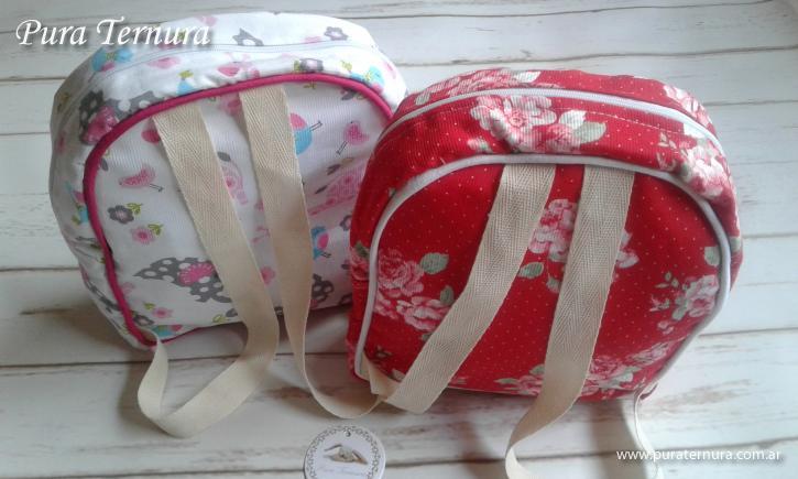 Neceser mini mochila Ideal pañales toallitas y muda de ropa para bebes