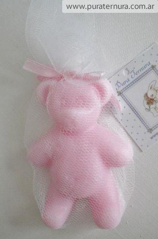 Oso de jabon rosa, ideal para cajonera del bebe